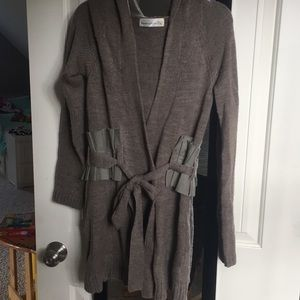 Anthropologie hooded sweater/cardigan EUC sz M